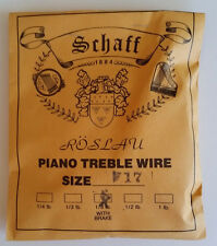 Schaff Roslau Piano Music Treble Wire Size 17 .039 1/3 Lb Coil 83' w Brake