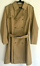 Misty Harbor men's tan raincoat trench 40 beige belt double-breasted sturdy