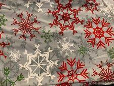 LuLaRoe leggings  CHRISTMAS 2017 TC2 Gray Snowflakes Red Green White HTF