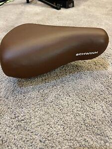 Schwinn Spring Leather Bike Seat - Brown