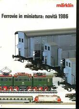 Modellismo Ferrovia catalogo treni Marklin novità 1986