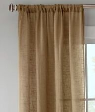 Country Curtains Linen Semi-Sheer Rod Pocket Panels