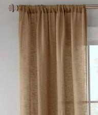 Country Curtains Linen Semi-Sheer Rod Pocket Panels
