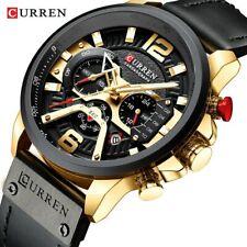 dd6887cafa55 Reloj hombre Grande curren negro dorado cronografo deportivo NUEVOS Rf  257