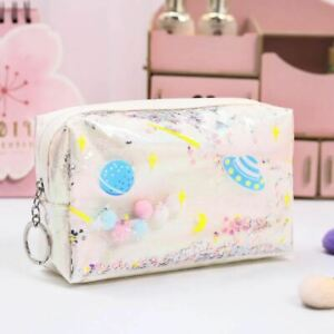 Star Pencil Case Glitter Large Capacity Pencilcase Laser Cosmetic Bag