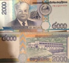 LAOS 2011 2000 KIP BEAUTIFUL UNCIRCULATED BANKNOTE P-41 BUY FROM A USA SELLER !