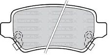NUOVO Set Pastiglie Freno posteriore: si adatta KIA VENGA 09 -