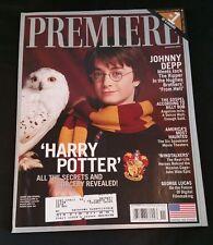 Premiere Magazine, November 2001, Harry Potter Collector's Cover, Johnny Depp