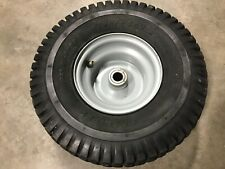 """Genuine Husqvarna 15 x 6"""" Front Silver Rim With Tire, Great Shape"""