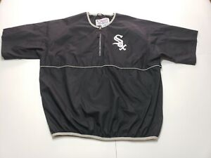 Majestic MLB Chicago White Sox Pullover Short Sleeve Windbreaker 1/4 Zip