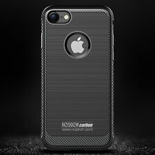 Custodia Cover Silicone iPhone 8 Plus 7 Plus Funda Coque Bumper Carbon Antiurto
