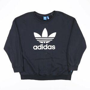 Vintage ADIDAS  Black 90s Crew Neck Sweatshirt Womens XL