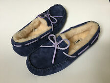 WOMENS UGG DAKOTA MOCCASIN FUZZY SLIPPERS WINTER WOOL HOUSE SHOES FUR WARM 6 37