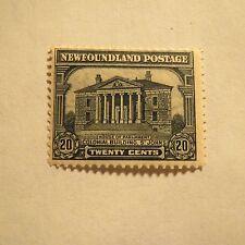 "1 Vintage ~MUH Newfoundland #157 1928 20 Cent ""COLONIAL BUILDING ST JOHNS"" MINT!"