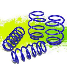 FOR 16-18 HONDA CIVIC SUSPENSION LOWERING COILOVER SPRING KIT BLUE FRONT+REAR