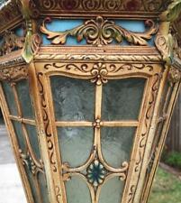 Antique Polychrome hanging lantern Light ceiling fixture ArtDeco Winthrop Virden