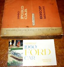 1960 Ford Service Shop Manuals Galaxie Fairlane 500 Ranchero Starliner Sunliner