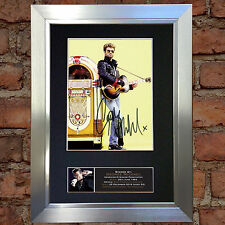 GEORGE MICHAEL Memorial Signed Autograph Mounted Photo Repro A4 Print 641