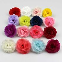 10/20x Artificial Silk Rose Flowers Heads Buds Petals Bouquets Craft Home Decor