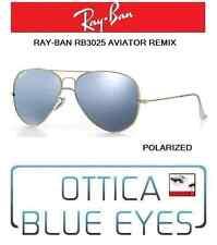 Occhiali da Sole RAYBAN AVIATOR 3025 Ray Ban REMIX GOLD silver POLAR sunglasses