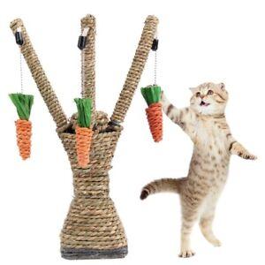 Pet Cat Tree Carrot Cat Climbing Frame Hand Woven Solving Fun Toy Tree