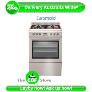 Euromaid GTEOS60 60cm Gas Cooker Electric Oven 77L Stove Stovetop Cooktop LPG