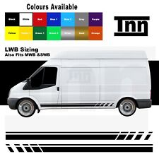 Side Stripe Stickers Decals Vinyl Graphics For Ford Transit LWB MWB SWB Van