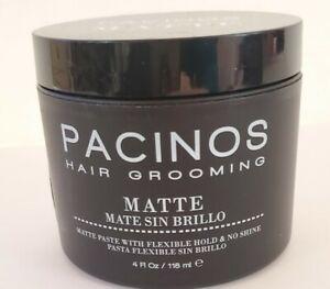 Lot of 3 Pacinos Matte Men's Hair Grooming Paste 4 Ounce