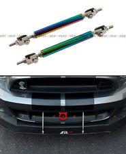 Neo Chrome Adjustable Bumper Lip Splitter Strut Rod Tie Support For Mini Cooper