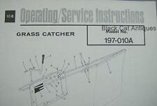 Original MTD Products Inc Grass Catcher Parts List Model 197-010A Form #770-6803