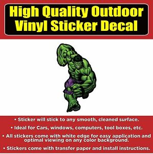 The Hulk Vinyl Car Window Bumper Sticker Decal