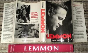 LEMMON HCDJ BOOK JACK LEMMON MOVIE STAR ACTOR THEATRE HOLLYWOOD 247 PAGES EX+