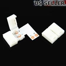5x 8mm 90-Degree Right Angle L-Shape LED Strip Solderless Coupler Connector 3528