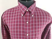 Jos A Bank Mens Travelers Long Sleeve Button Down Plaid Shirt Size Large