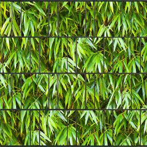 Bambus Blätter - Bedruckter Sichtschutz für Doppelstab Zaun inkl Klemmschienen