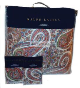 RALPH LAUREN Norwich Road Pyne Paisley 3P FULL/ QUEEN COMFORTER SET NEW $615