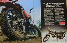 HARLEY-DAVIDSON SX-250 2 Page Motorcycle Ad 1976 SX250