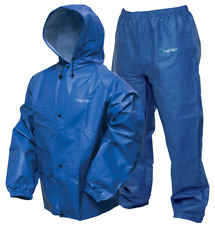 Frogg Toggs Pro-Lite Rain Suit XL/XXL Men Waterproof Rain Gear Hike Camp BLUE-