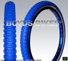 "Panaracer BLUE 'Knarler Knobby' Tyre Pair 20"" x 1.75 - Old School BMX"