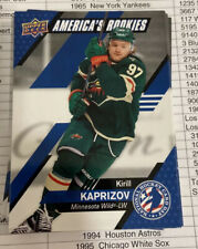 Kirill Kaprizov  Rookie #USA-5  2021 Upper Deck NHL Hockey Card Day Rookies
