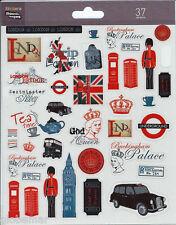 Stickers London planche 20 cm x 15,5 cm pour ordinateurs portables télé consoles