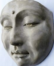 Collectible Healing Buddha Mask Sculpture Hangs on Door or Wall, Home Decor