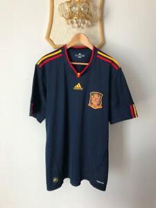 SPAIN NATIONAL TEAM 2010 WORLD CUP FINAL AWAY FOOTBALL SHIRT JERSEY ADIDAS ADULT