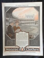 1919 Vintage Magazine Ad ~ Monroe Clothes ~ New York Baseball Polo Grounds