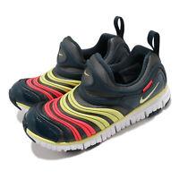 Nike Dynamo Free PS Iron Grey Limelight Deep Ocean Kid Preschool Shoe 343738-024