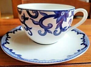 *NEW* Ralph Lauren Mandarin Blue Cup & Saucer 6418518 China