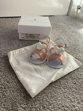 NEW GUCCI BABY GIRLS WHITE & PINK HEART SANDALS - EU 19 UK 3