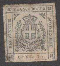 MODENA 1859 Provisional Gov. 15c grey MH / N5703