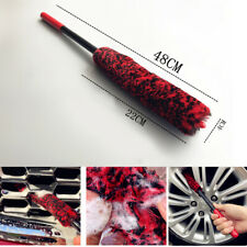 Improved Version Strengthen Handle Premium Wool Wheel Brush 48CM Car Rim Brushes