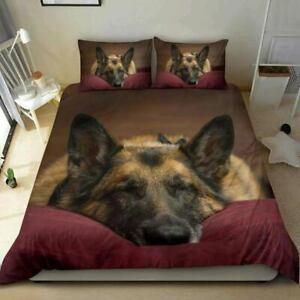 3D German shepherd Duvet/Quilt/Cover Bedding Queen Comforter Cover Pillowcase